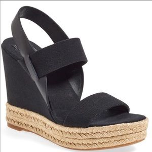 TORY BURCH two band espadrille wedges